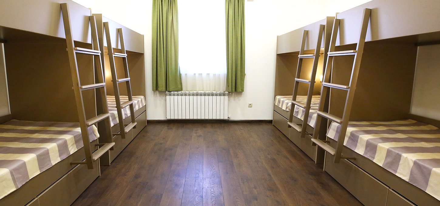 Bed in Male Dormitory